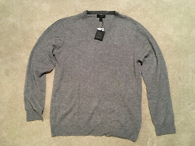 $40 • Buy Club Room Cashmere Mens Lightweight Sweater NWT Light Gray- Large
