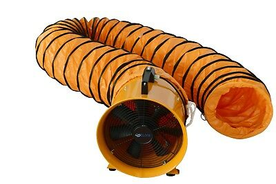 £119.99 • Buy 8  200mm Cyclone Dust Fume Extractor / Ventilation Fan + 5m Pvc Ducting