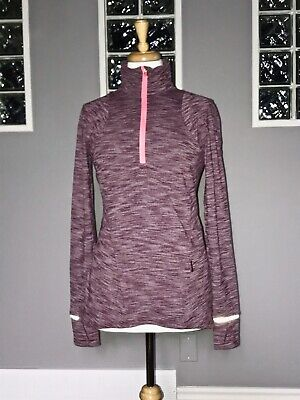 $ CDN70.20 • Buy Lululemon Kanto Catch Me 1/2 Zip 8 Heathered Bordeaux Long Sleeve Pullover Vguc
