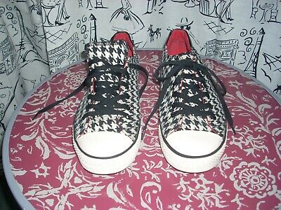 $ CDN12.57 • Buy Gotta Flurt Twistme Bama Houndstooth Design Sneakers Shoes Women's Size 10M