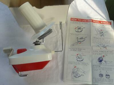 Boxed Wool/yarn Winder For Machine/hand Knitting,table Clamp,removable Cone Etc. • 10.99£