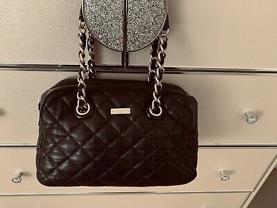 $ CDN99.99 • Buy Kate Spade Georgina Quilted Black Bag With Zipper On Top