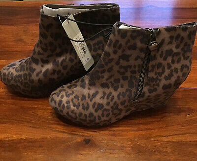 £23.99 • Buy Red Herring Animal Print Ankle Wedge Boots Size 7 RRP £45