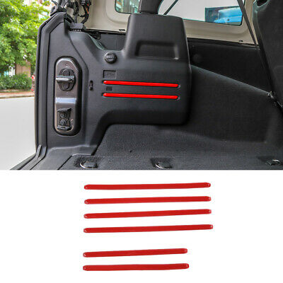 $25.71 • Buy Car Interior Red Rear Tail Trunk Cargo Trim Cover For Jeep Wrangler JL 2018-2020
