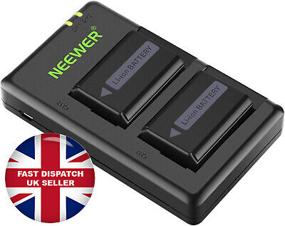 Neewer NP-FW50 Camera Battery Charger Set For Sony II 2-Pack, Versatile Charging • 24.99£