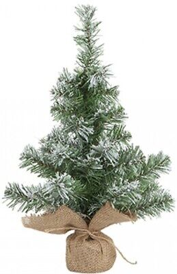 Artificial Christmas Tree Snow Tipped Norway Pine 45cm Tall Table Top Tree • 8.99£