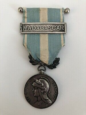 Pre WW1 French Colonial Medal With Madagascar Bar 1903-1906 • 60£
