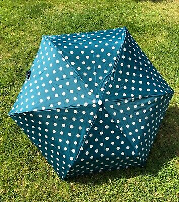 Cath Kidston Dark Turquoise Billy Handle Umbrella New With Tags  • 25£