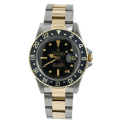$ CDN12619.69 • Buy Rolex GMT-Master 1675 Nipple Dial Mens Automatic Vintage Watch Two Tone 40mm