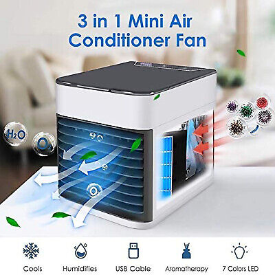AU34.99 • Buy Mini Portable Air Cooler Conditioner Evaporative Water Cooling Fan USB Charging