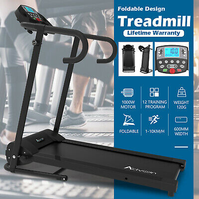 AU339.90 • Buy Electric Treadmill Exercise Machine Fitness Equipment Incline Run Home Gym Black