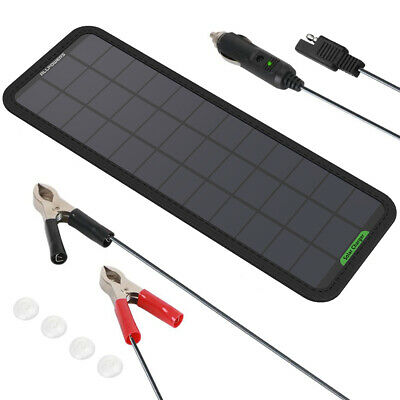 AU34.99 • Buy AU Waterproof 18V5W Portable Solar Panel Trickle Car Boat Battery Charger Car RV