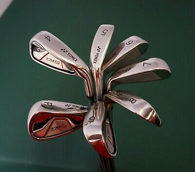 Set Of 7 X Yonex VMS Irons 4-PW Regular Steel Shaft Yonex Grip • 134.99£