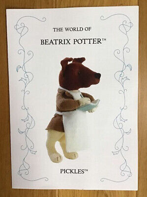 Beatrix Potter Knitting Pattern - Pickles - By Alan Dart - • 40£