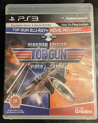 TOP GUN PLAYSTATION 3 - ULTRA RARE PS3 HYBRID BLU RAY & GAME - Mint Condition • 39.99£