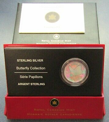 $24.95 • Buy 2005 Canada 50 Cent Fritillary Sterling Coin Butterfly Collection - Item# 2889