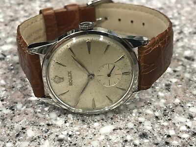 $ CDN2860.96 • Buy Vintage  Ss  Rolex Ref 8896 Manual Wind Wristwatch.