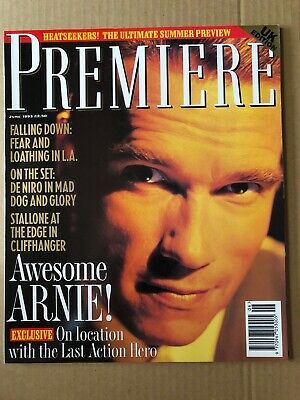 Premiere Magazine June 1993 Cover: Arnold Schwarzenegger Last Action Hero • 5.85£