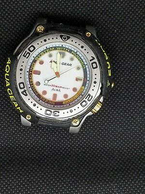 $ CDN45.82 • Buy Rare SEIKO Vintage NON  Digital Watch AQUA GEAR ALBA 200 DIVER SCUBA V671-6060