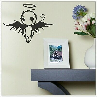 £1.99 • Buy Emo Angel Wall Sticker Transfer Gothic Teen Room Graphic Goth Teenager Bedroom