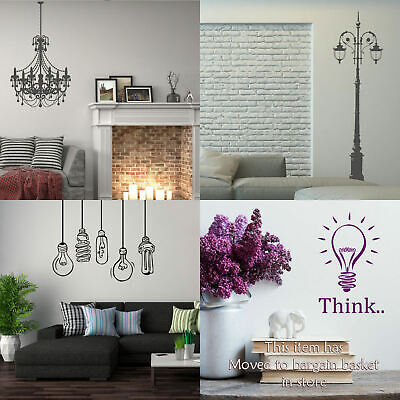 £9.99 • Buy Street Lamp Wall Sticker Chandelier Vinyl Transfer Graphic Decal Decor Graphic