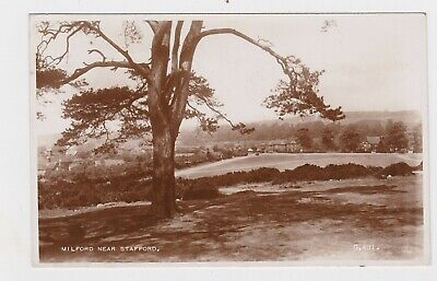 GREAT OLD REAL PHOTO CARD MILFORD VILLAGE STAFFORD CANNOCK CHASE C. 1950 • 0.99£