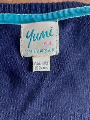 Girls Yumi Blue Dress 11-12 Years 152cm In Great Condition  • 1.20£