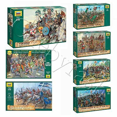 Model Kits  Warriors, Knights Of Medieval Army, 13-15 Cent  Soldiers 1:72 Zvezda • 5.72£