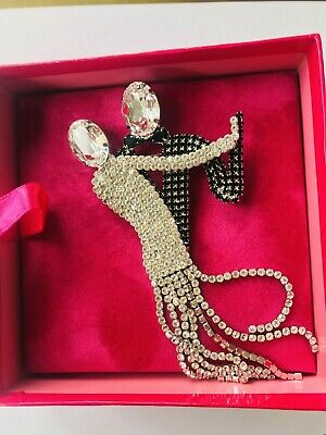 Stunning Dancing Pair Art Deco Style Brooch By Butler & Wilson  • 55£