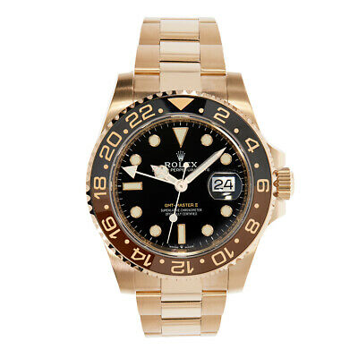 $ CDN56315.30 • Buy Rolex GMT Master II Root Beer Rose Gold Watch 126715CHNR