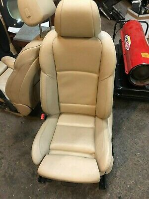 2013 Bmw F10 Seat Passenger Side Left Front Cream Leather  • 125£