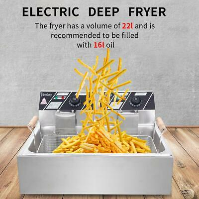 £66.95 • Buy 5000W 22L Commercial Electric Deep Fat Chip Fryer Large Tank Stainless Steel