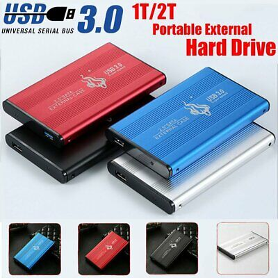 AU42.98 • Buy 2TB USB 3.0 External Hard Drive Disks HDD 2.5'' For PC Laptop Desktop Portable
