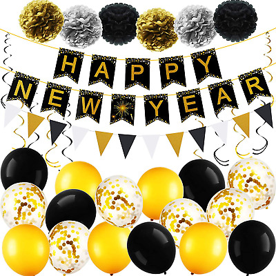 Happy New Year Party Decorations Kit 2021, New Years Eve Party Supplies 2021, Ha • 25.99£
