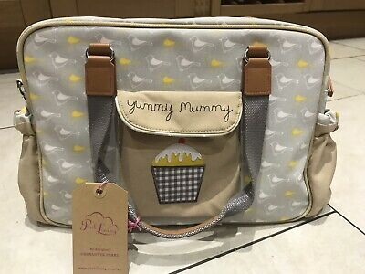 Yummy Mummy Garden Birds Grey & Yellow Baby Bag, New With Tags RRP £79 • 30£