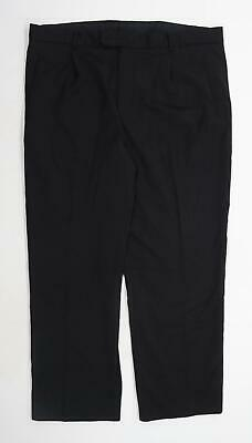 £8 • Buy Taylor & Wright Mens Black Trousers Size W40/L29