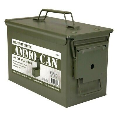 $35.34 • Buy Metal 0.50 Caliber Ammo Can Military AMMO CAN M2A1 50CAL METAL AMMO CAN BOX