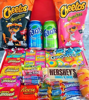 £20.99 • Buy American Sweets Box Candy Box - 64 ITEMS - Gift Box - US Candy Hamper - Present
