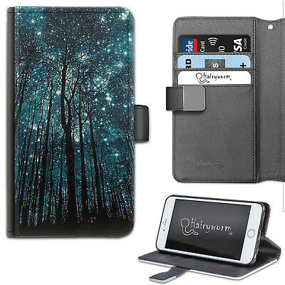AU25.76 • Buy Trees And Starry Galaxy Night Sky PU Leather Wallet Phone Case, Flip Case