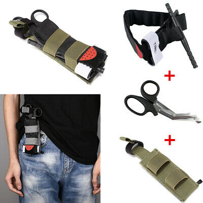 $ CDN20.14 • Buy Tactical First Aid Kits TQ Pouch Molle Medical Scissors Bag Tool Survival Kits