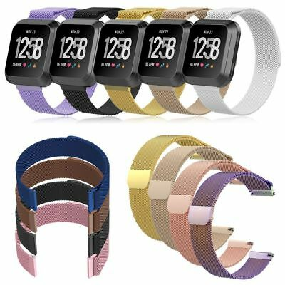 $ CDN15.61 • Buy Metal Fitbit Versa Replacement Milanese Band Strap Secure Wristband