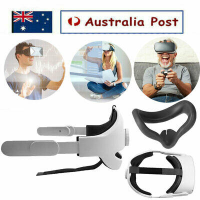 AU59.99 • Buy Adjustable Comfortable Eye Patch W/ VR Glasses Head Strap For Oculus Quest VR2