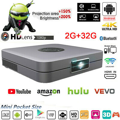 AU437.89 • Buy 8000 Lumens DLP Wifi 4K 3D HD 1080P Home Theater Projector Android HDMI USB 2020