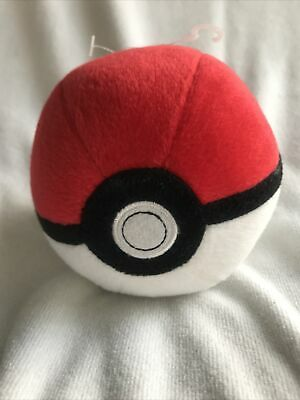 Pokémon Poké Ball 5  Soft Plush Toy Official Tomy • 9.99£