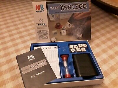 Word Yahtzee Game By MB Games, Boxed, Compkete With Instructions  VGC • 2.10£