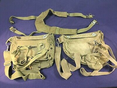 $50 • Buy U.S. Army-USMC Vietnam War M-1956 Suspenders With M17 Gas Mask Carriers