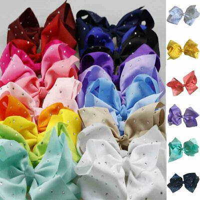 Hair Bow Ornament 20cm Point Drill With Hairpin Large Bow Cute Fashion Hand Made • 2.52£