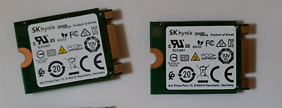 $ CDN119.99 • Buy Lot Of 2 X 256GB M.2 2230 SSD SK Hynix BC501 HFM256GDGTNG83A0ABA - NEARLY NEW