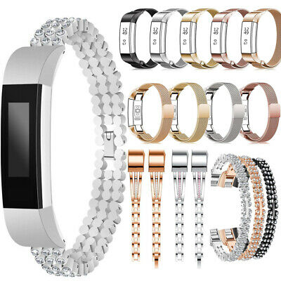 AU10.32 • Buy Stainless Steel Metal Replacement Watch Band Strap Bracelet For Fitbit Alta/HR