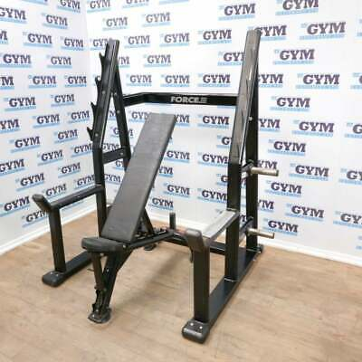 Used Force Olympic Squat Rack & Adjustable Bench • 949£